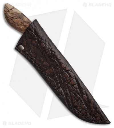 "Arno Bernard Knives Lion Fixed Blade Knife Spalted Maple (4.25"" Satin)"