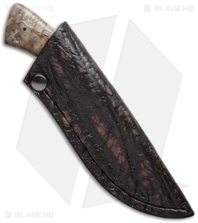 "Arno Bernard Knives Gecko Fixed Blade Knife Spalted Maple (2.75"" Satin)"