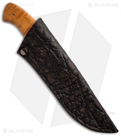 "Arno Bernard Knives Zebra Fixed Blade Knife Maple Burl (4"" Satin)"