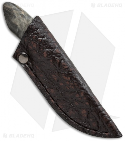 "Arno Bernard Knives Meerkat Fixed Blade Knife Maple Burl (2.38"" Satin)"