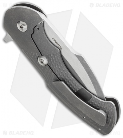 "Rick Barrett Fallout Mid-Tech Titanium Flipper Knife (3.5"" Two-Tone) USA"