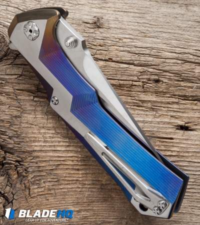 "Brian Tighe Custom Tighe Tac Tanto Knife Spectrum Titanium (4"" Polish SW)"