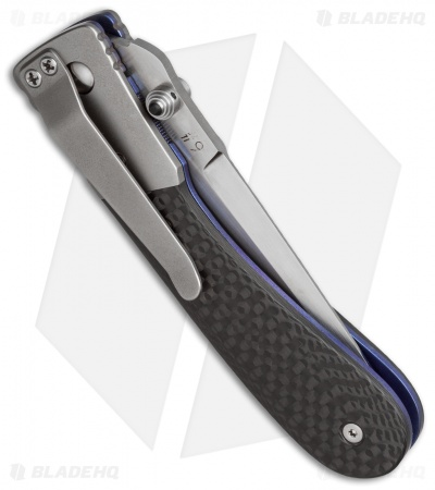 "Brian Tighe Vanguard Titanium D/A Automatic Knife Carbon Fiber (3.5"" Satin)"