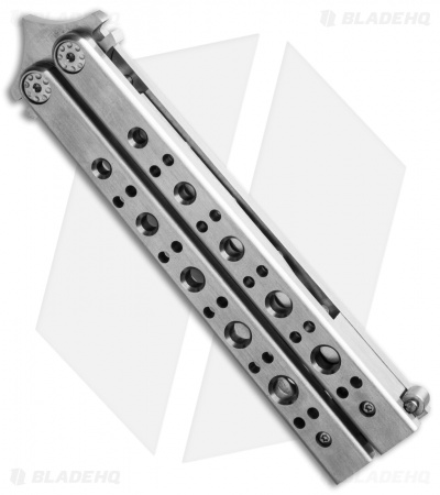 "Burn Knives Model 1 Custom Balisong Knife Stainless Steel (4.25"" Satin)"