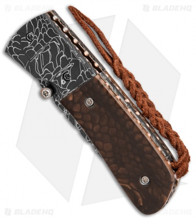 "Burr Oak Knives C-MO Knife Snake Skin Damascus/Juma (2.625"" Damascus)"