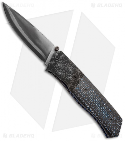 "Burr Oak Knives Splinter Knife Carbon Fiber (3.38"" San Mai)"
