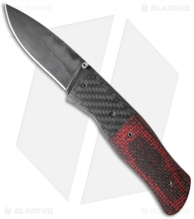 "Burr Oak Knives Sidewinder II Knife Burlap Micarta/CF (3.5"" Black)"