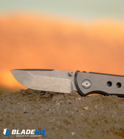 "Chaves American Made Redención 228 Frame Lock Knife Bead Blast Titanium (3.25"")"