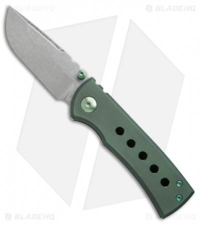 "Chaves American Made Redención 228 Frame Lock Knife Green Ti (3.25"")"