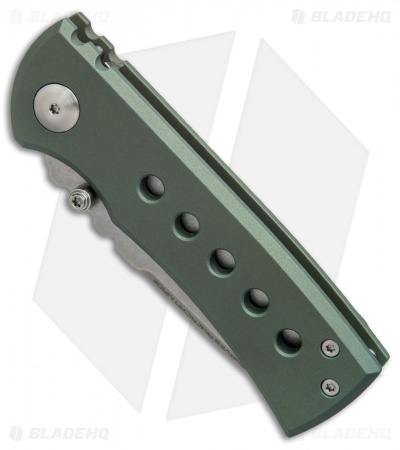 "Chaves American Made Redención 228 Frame Lock Knife Matte Green Ti (3.25"")"