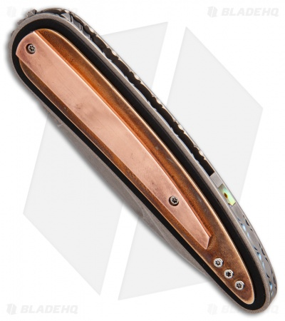 "Corrie Schoeman Raindrop Liner Lock Knife Copper Beryllium (3"" Hamon)"