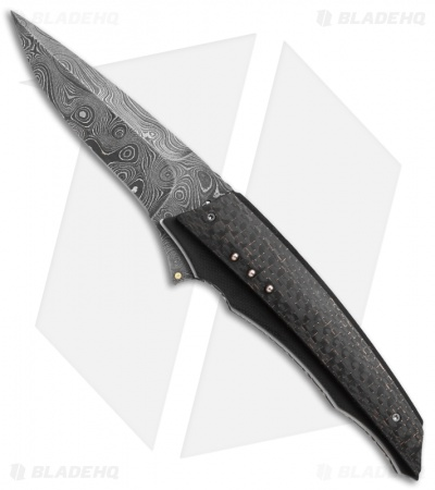 "Corrie Schoeman X-Corpion Flipper Knife LSCF (3.25"" Damascus)"