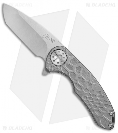 "Curtiss Knives F3 Medium Frame Lock Knife Kryptek Titanium (3.25"" Stonewash)"