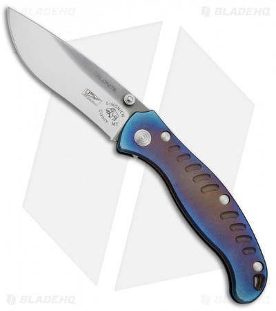 "DDR/Simonich 2BK Custom Frame Lock Knife Anodized Ti (3.5"" Hand Rubbed Satin)"