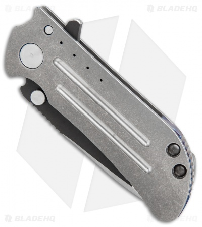 "DireWare Custom M8 Frame Lock Knife Tumbled Titanium (3.325"" Two-Tone)"