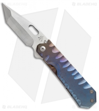 "DSK Tactical Knives GF-1 Gentleman Folder Frame Lock Knife Ano (4"" Satin)"