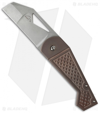 "Gale Force Customs Hawkeye Mid-Tech Knife Dark Bronze (3.25"" Stonewash)"