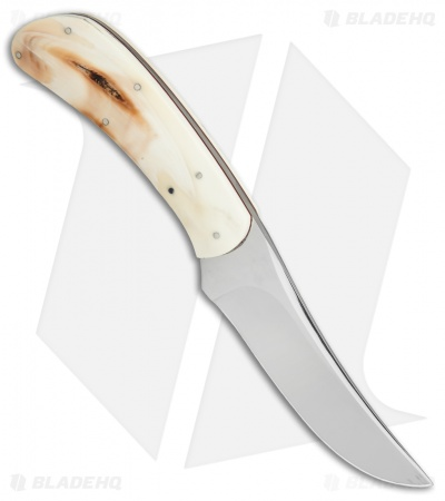 "George Muller Small Fixed Blade Knife Warthog Ivory (3.375"" Mirror)"