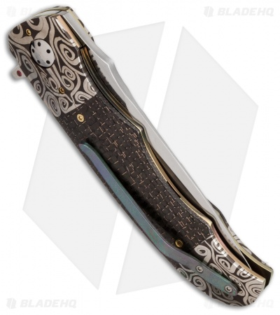 "George Muller LL-BB Flipper Knife LSCF/Damascus (3.75"" Satin)"