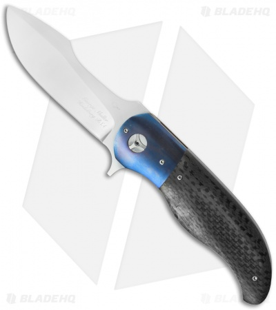 "George Muller LL-AA Flipper Knife Carbon Fiber/Ti (3.5"" Satin)"