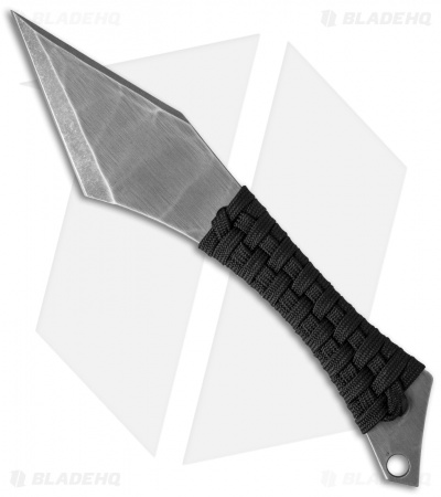 "Heretic Knives Chimera Fixed Blade Knife Black Paracord (3.5"" BB/SW)"