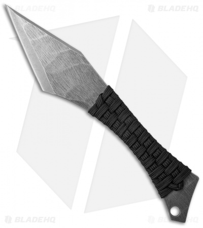 "Heretic Knives Chimera Fixed Blade Knife Black Paracord (3.5"" Stonewash)"