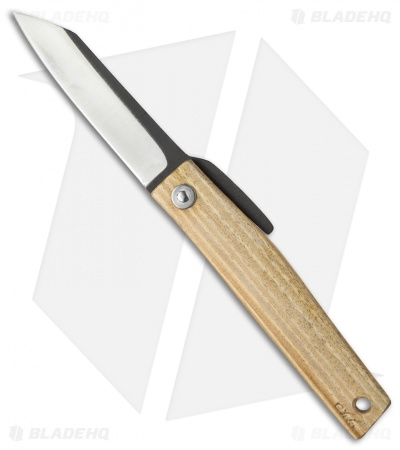 "Hiroaki Ohta Knives OFF FK 7 Friction Folder Palo Santo Wood (2.8"" Two-Tone)"