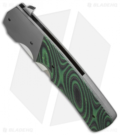 "Jason Clark Tanto Frame Lock Flipper Knife Zr/DewCarta (3.7"" Satin)"