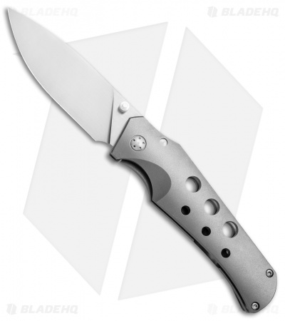 "Jason Guthrie Custom Scout Skeletonized Frame Lock Knife Full Ti (3.1"" Satin)"
