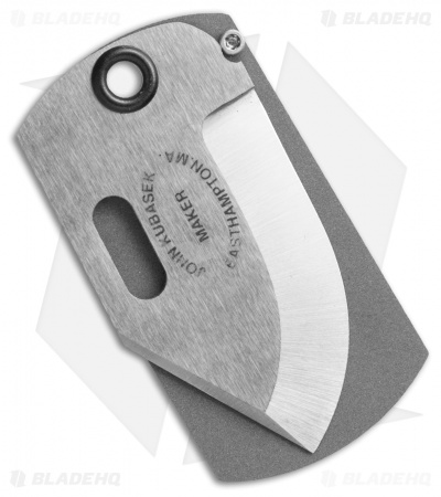 "Kubasek Mag-Tag Folder Dog Tag Knife Aluminum Diamond Plate (1.75"" Satin)"