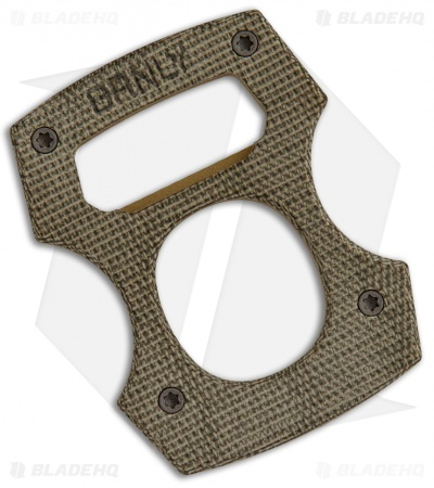 Burnley Contra Cypop Bottle Opener OD Canvas Micarta/Brass