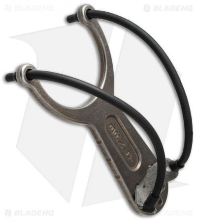 Lucas Burnley Titanium Slingpop Slingshot - Bronze Distressed Ano - BHQ Edition