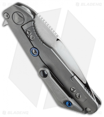 "Marfione / Strider Custom MSG-3 Flipper Knife Titanium (3.5"" Mirror Polish) III"