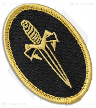 Microtech Knives Marfione Dagger Lapel Pin & Patch