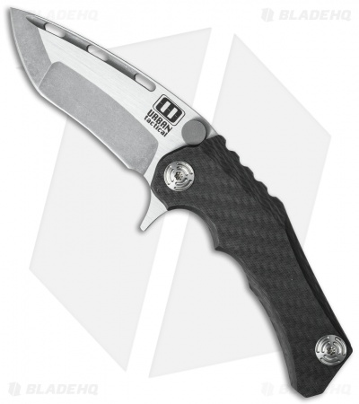 "Mikkel Willumsen Urban Tactical Perock Flipper Knife CF/Ti (3.5"" Two-Tone)"