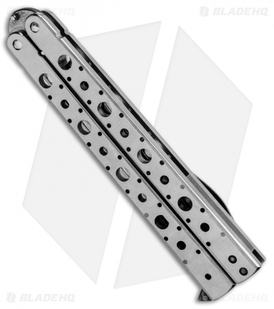 "Nathan Dewey Custom Deviant Balisong Butterfly Knife (4.375"" Damascus)"
