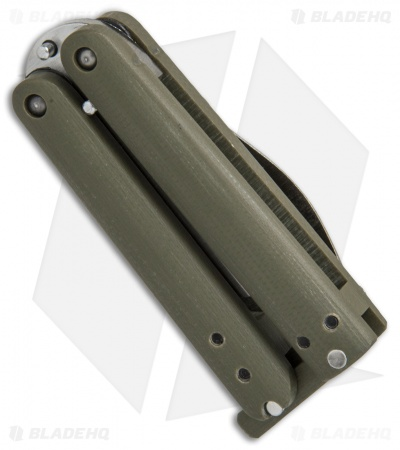"Nathan Dewey Custom Gremlin Mini Balisong Knife OD Green G-10 (2"" Satin)"