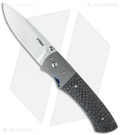 "O'Hare Knives Orion Liner Lock Knife Silver LSCF (3.25"" Satin)"