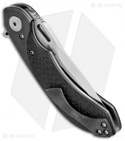 "Olamic Cutlery Wayfarer Compact Flipper Knife CF/Zirc (3.5"" Polish) WC334"