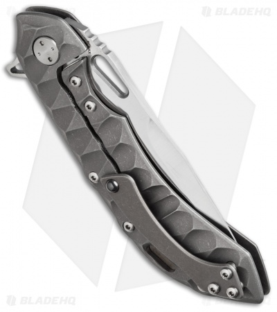 "Olamic Wayfarer 247 Frame Lock Knife Sculpted Bronzed Titanium (3.5"" Satin)"