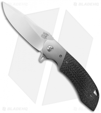 "Olamic Cutlery Wayfarer Liner Lock Knife Carbon Fiber (4"" Polish) W426"
