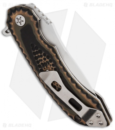 "Olamic Cutlery Wayfarer Flipper Knife Camo G-10 (4"" Satin) W566"