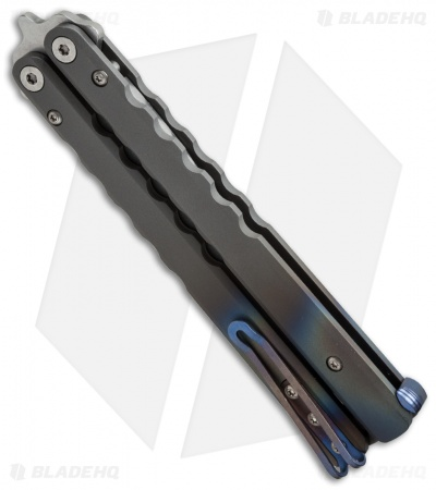 Protech FlyFather Balisong Butterfly Knife BB Random Fade + Clip (Stonewash)