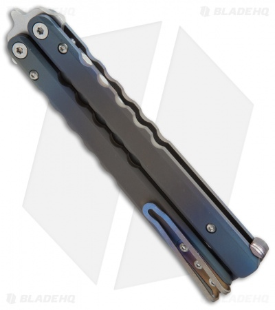 Protech FlyFather Balisong Butterfly Knife BB Random + Fade Clip (Stonewash)