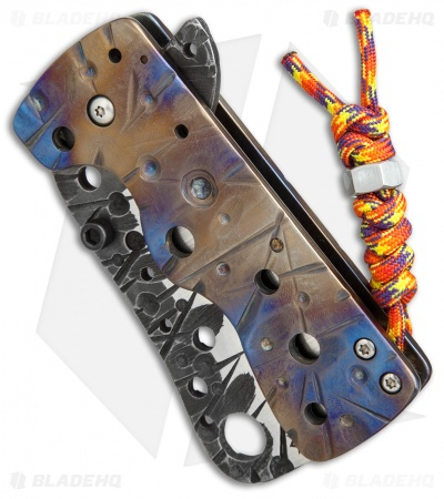 "RichMade Knives Medium Zombie Killer Frame Lock Heat Ti (3.375"" Two-Tone) RMK"