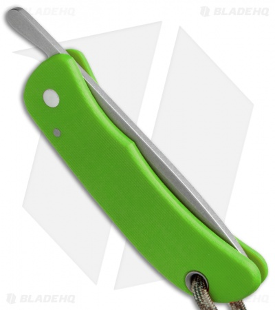 "Sakman Pointer Friction Lock Knife Neon Green G-10 (3"" Stonewash)"