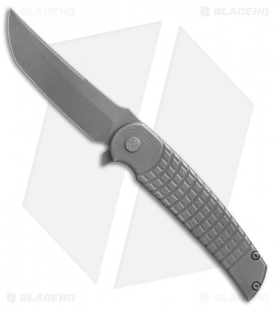 "Sharp By Design Hurricane Flipper Knife Grenade Titanium (4"" Gray)"