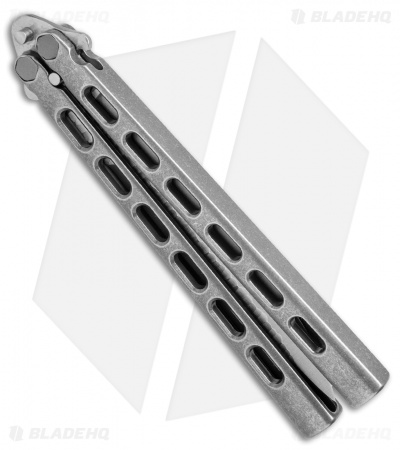"Snody Knives Custom Highroller Balisong Butterfly Knife Ti (5"" Satin/SW) 10/20"