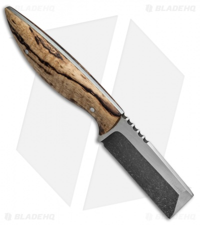 "Stark Creations EDC Cleaver Fixed Blade Knife Spalted Koa (2.625"" Two-Tone)"