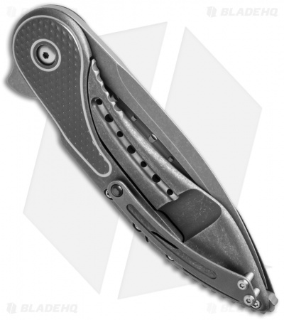 Todd Begg Glimpse 5.5 Frame Lock Knife Gray Ti/Diamond (SW Fluted)